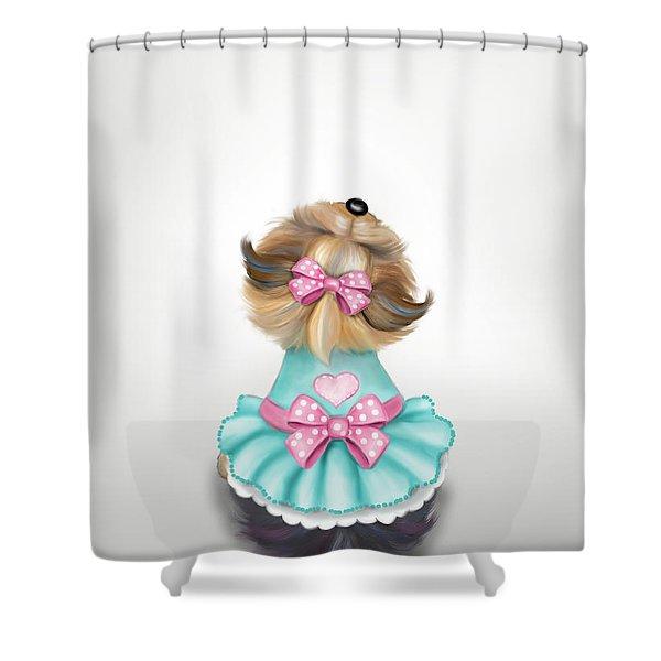 Miss Pretty Shower Curtain