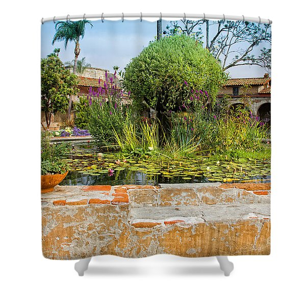Mission Lilly Pond Shower Curtain