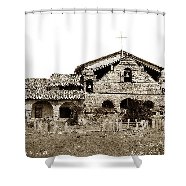 Mission San Antonio De Padua California Circa 1885 Shower Curtain