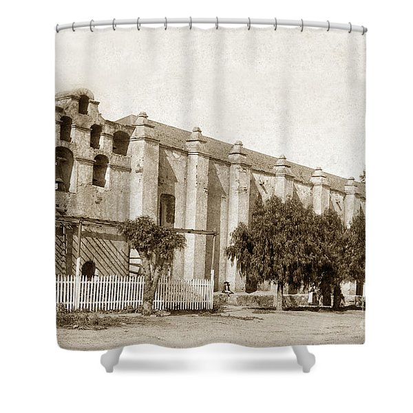 Mission San Gabriel Arcangel California Circa 1895 Shower Curtain