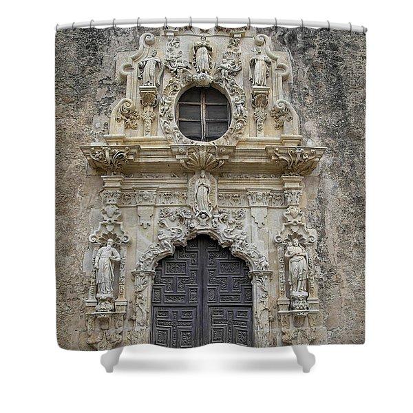 Mission San Jose Doorway Shower Curtain