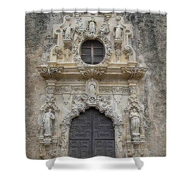Shower Curtain featuring the photograph Mission San Jose Doorway by Jemmy Archer