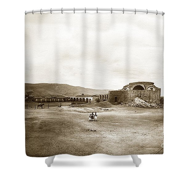 Mission San Juan Capistrano California Circa 1882 By C. E. Watkins Shower Curtain