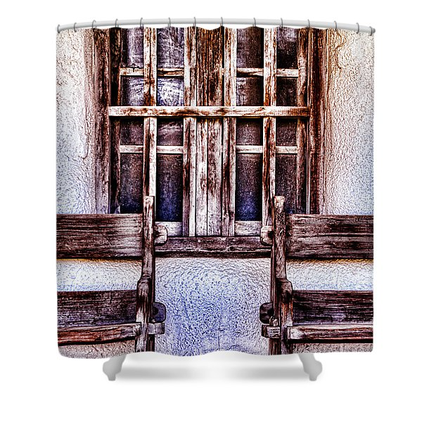 Mission Soledad Window Seating By Diana Sainz Shower Curtain