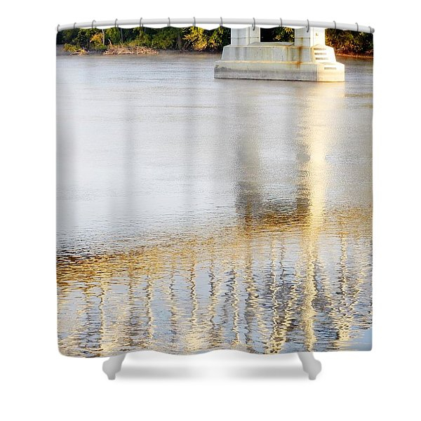 Mississippi Reflection Shower Curtain
