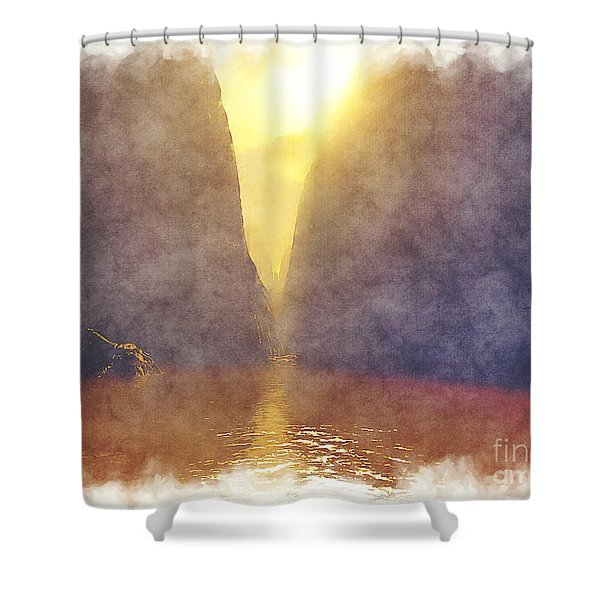 Missoula Trench Shower Curtain
