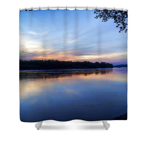 Missouri River Blues Shower Curtain