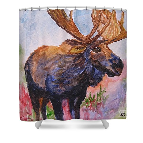 Mister Moose Shower Curtain