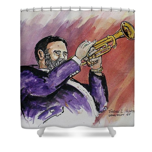 Mister Too Many Notes Shower Curtain