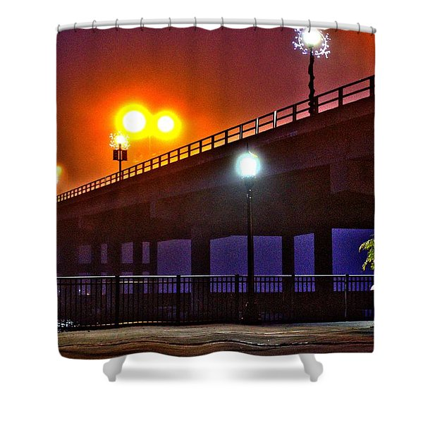 Misty Bridge Shower Curtain