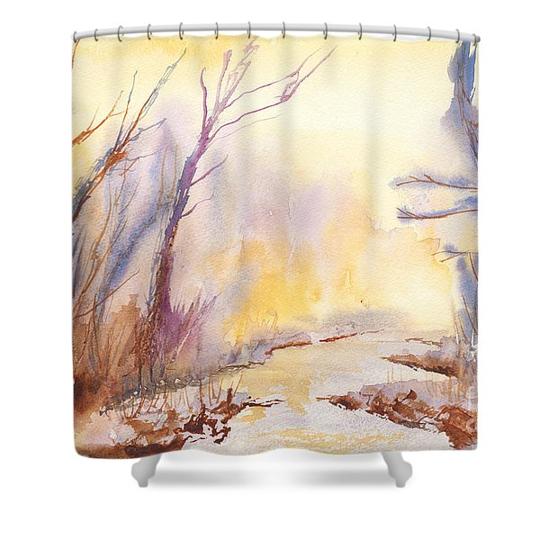 Misty Creek Shower Curtain