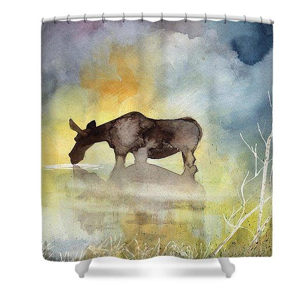 Misty Moose Minerva Shower Curtain
