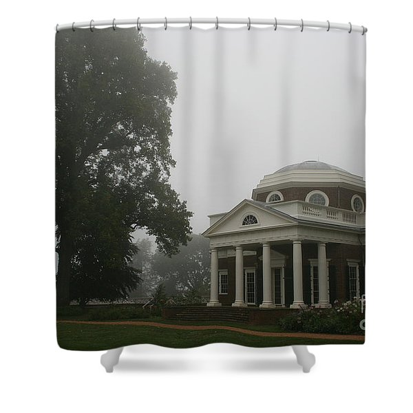 Misty Morning At Monticello Shower Curtain
