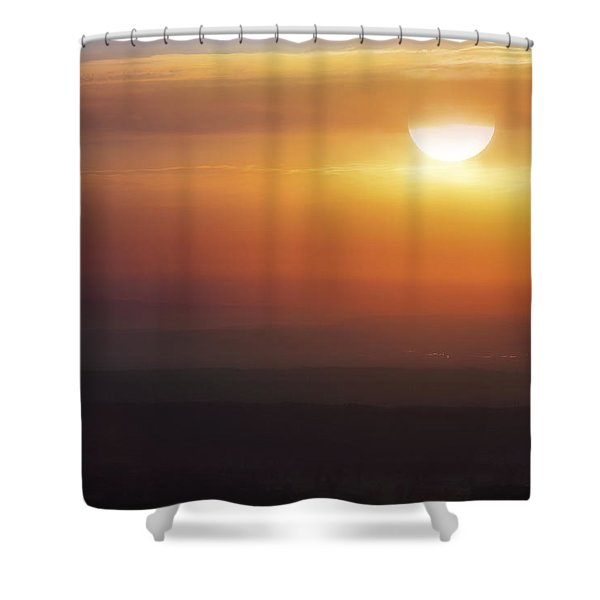 Misty Peaks And Valleys Under The Rising Sun - Mt. Nebo - Arkansas Shower Curtain