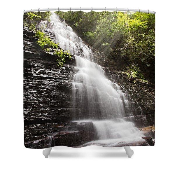 Misty Waterfall Shower Curtain
