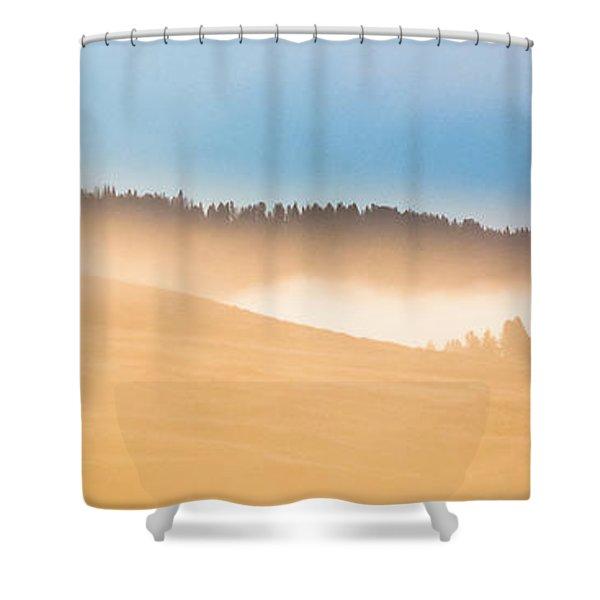 Misty Yellowstone   Shower Curtain