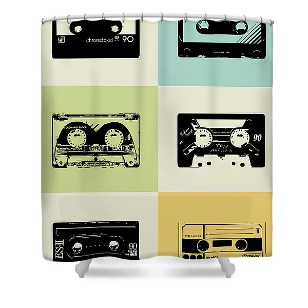 Mix Tape Poster Shower Curtain