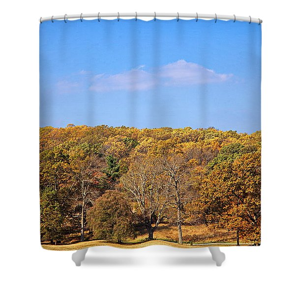Shower Curtain featuring the digital art Mixed Fall by Leeon Photo