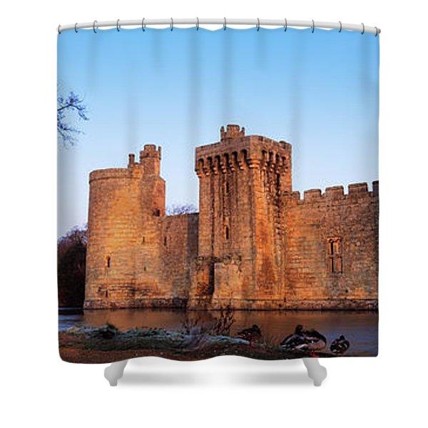 Moat Around A Castle, Bodiam Castle Shower Curtain