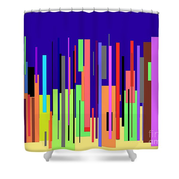 Modern Cityscape Shower Curtain