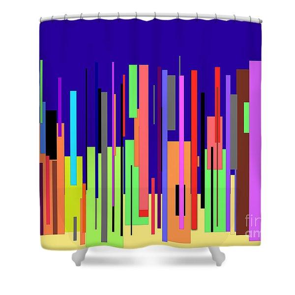 Modern Cityscape Shower Curtain