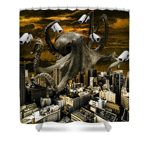 Modern Freedom Shower Curtain