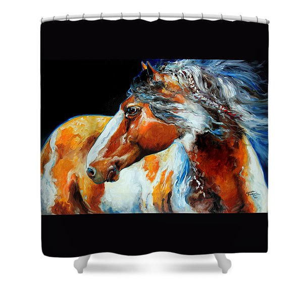 Mohican The Indian War Pony Shower Curtain
