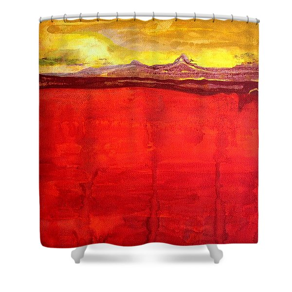 Mojave Dawn Original Painting Shower Curtain