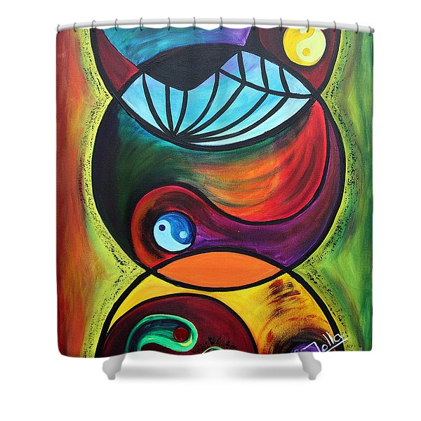 Molecules Of Emotion Shower Curtain
