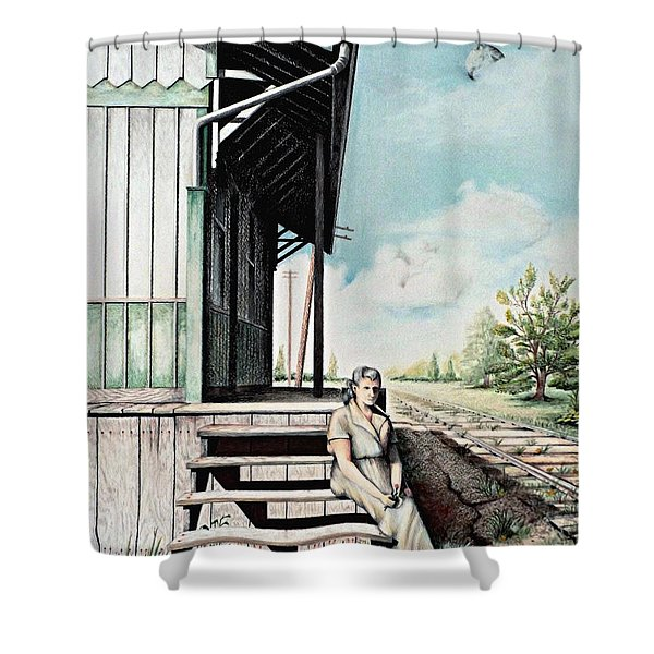 Mom With Rose Shower Curtain