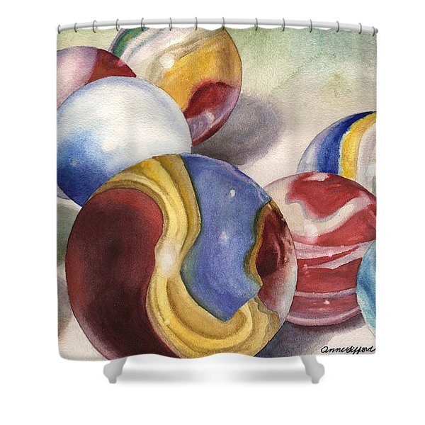 Mom's Marble Shooter Shower Curtain