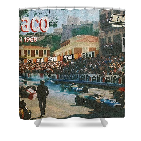 Monaco 1969 Shower Curtain