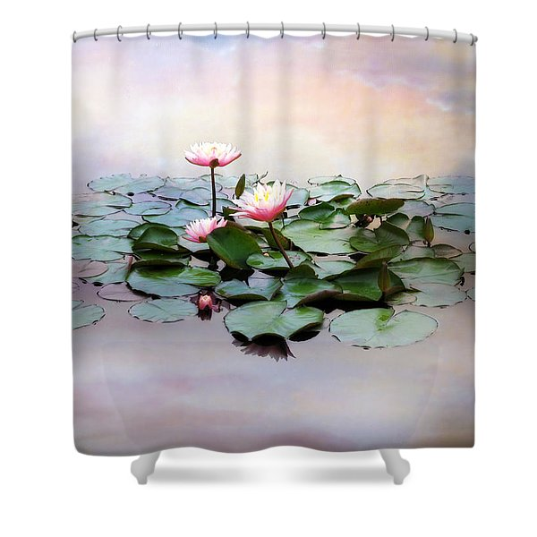 Monet Lilies  Shower Curtain