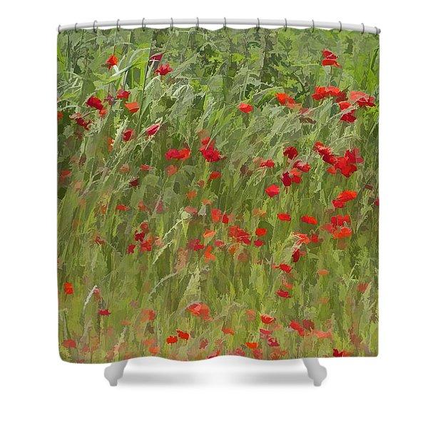 Monet Poppies IIi Shower Curtain