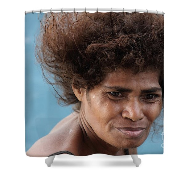 Monica From Papua New Guinea Shower Curtain