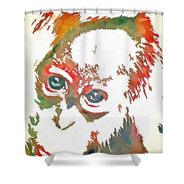 Monkey Pop Art Shower Curtain