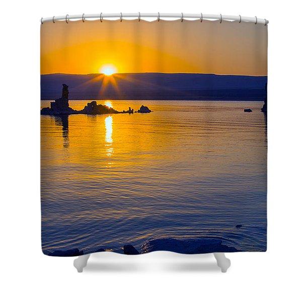 Mono Lake Sunrise Shower Curtain