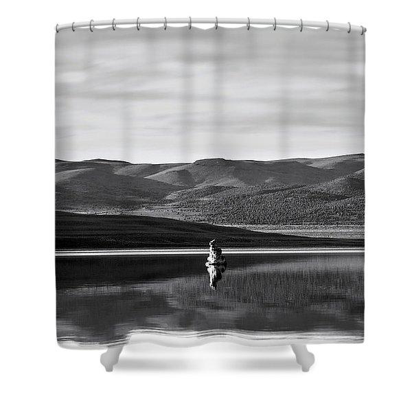 Mono Zones Bw Shower Curtain