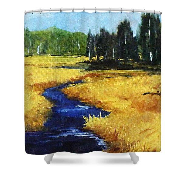 Montana Creek Shower Curtain