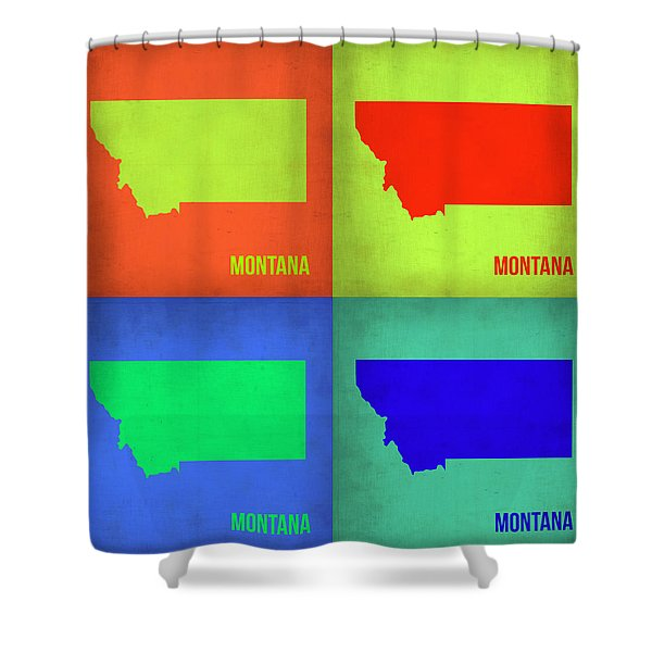 Montana Pop Art Map 1 Shower Curtain