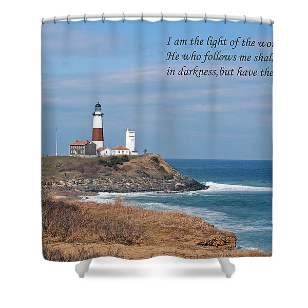 Montauk Lighthouse/camp Hero/inspirational Shower Curtain