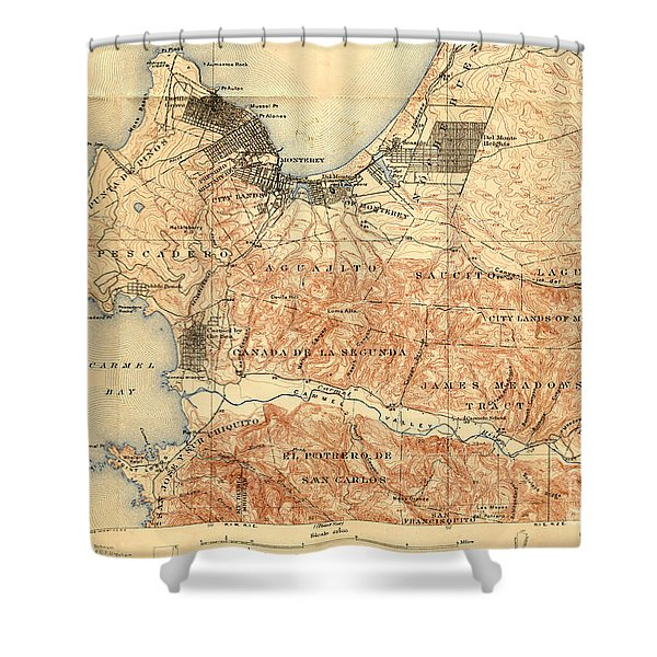Monterey And Carmel Valley  Monterey Peninsula California  1912 Shower Curtain