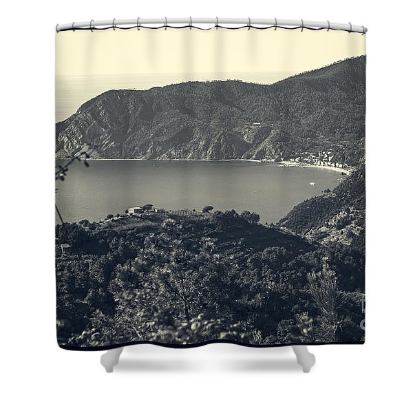 Monterosso Al Mare From Above Shower Curtain