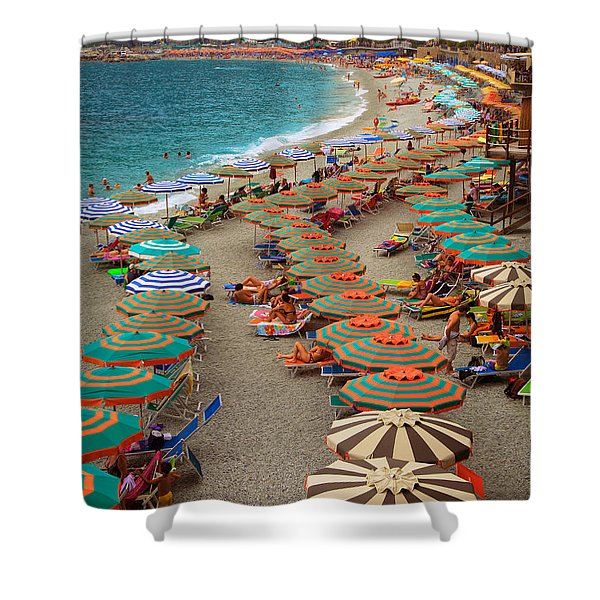 Monterosso Beach Shower Curtain