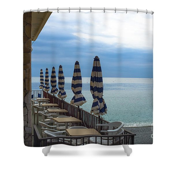 Monterosso Outdoor Cafe Shower Curtain