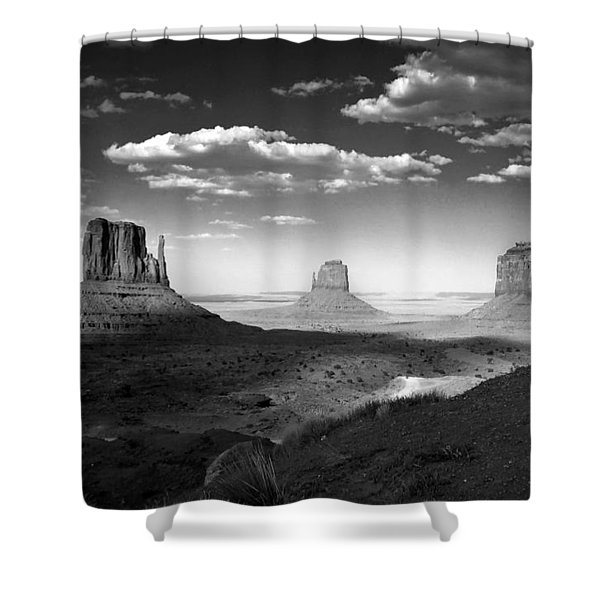 Monument Valley In Black And White Shower Curtain