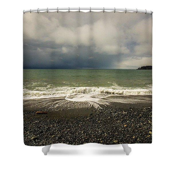 Moody Swirl French Beach Shower Curtain