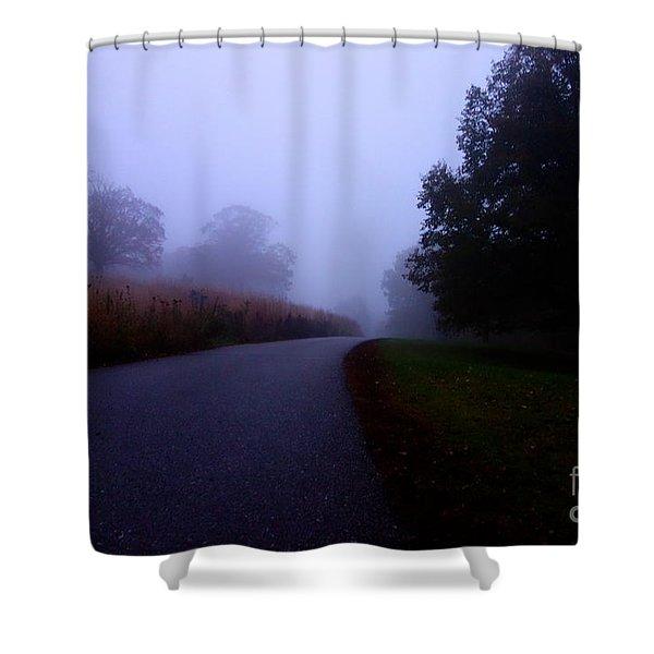 Moody Autumn Pathway Shower Curtain