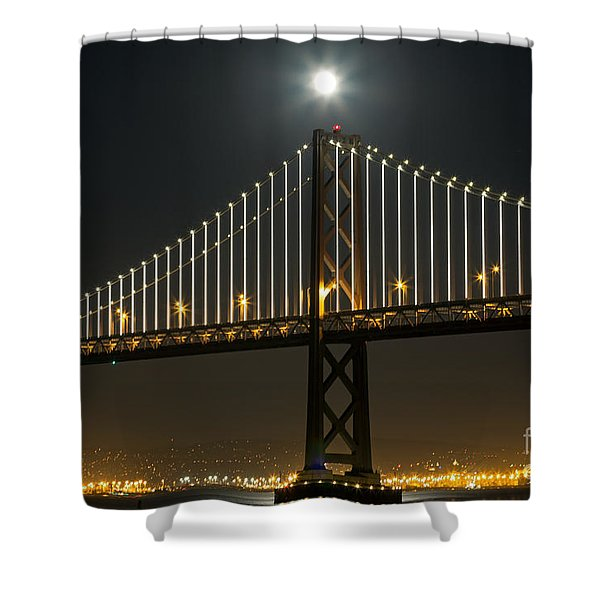 Moon Atop The Bridge Shower Curtain