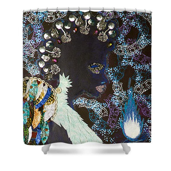 Moon Guardian - The Keeper Of The Universe Shower Curtain